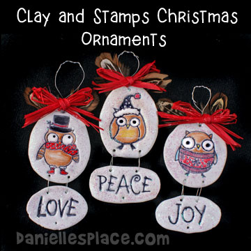 Polymer Clay and Stamps Christmas Ornaments Craft
