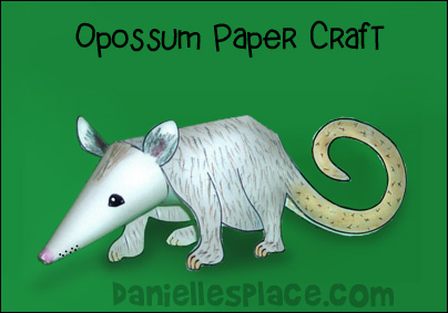 Oppossum Paper Craft for kids