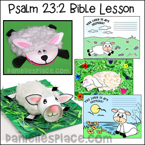 Psalm 23:2 - Bible Lesson - He Makes Me Lie Down in Green Pastures