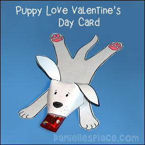 Puppy Love Valentine's Day Card
