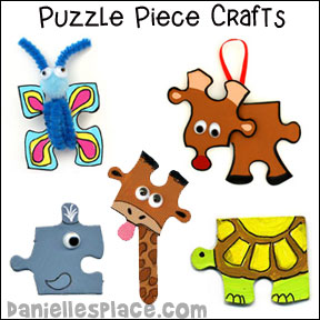 Puzzle Piece Crafts for Kids