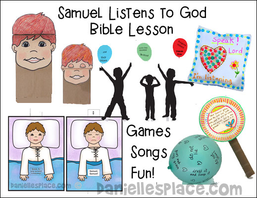 Samuel Listens to God Bible Lesson for Children - available as an instant download or with membership