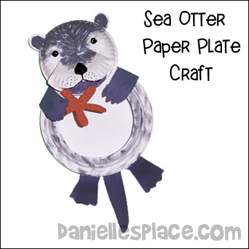 Sea Otter Paper Plate Craft for Children
