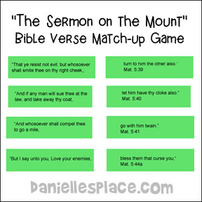 Sermon on the Mount Match-up Game