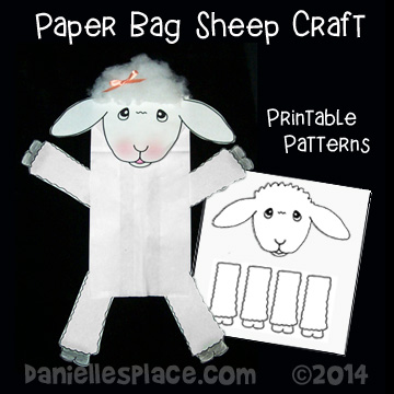 Sheep Paper Bag Puppet Craft for Psalm 23 Sunday School Leeson
