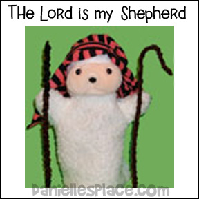 Sheep Puppet dressed like a Shepherd