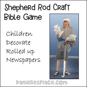 Shepherd Rod Craft and Bible Review Game