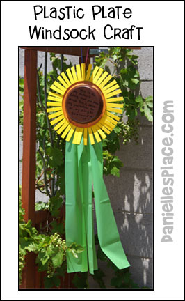 Sunflower Windsock Craft for Kids