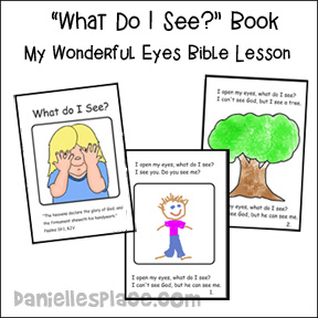 sunday school what do I see bible craft coloring page from www.daniellesplace.com
