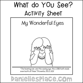 "What Do I See? Activity Sheet for ""God Made Me"" Creation Bible Lesson"