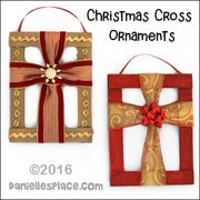 Christmas Cross with Cardboard Frame Ornament Craft