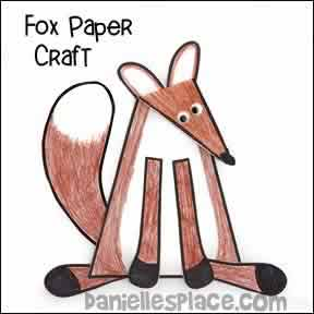 Fox Paper Craft for Kids from www.daniellesplace.com