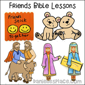 Friends Bible Lessons on www.daniellesplace.com