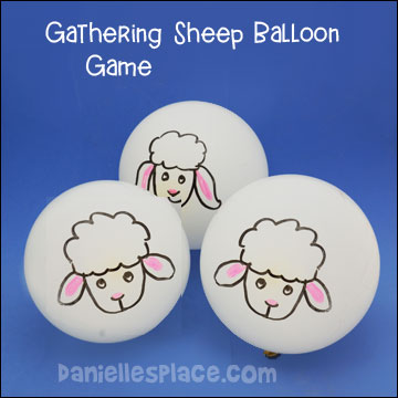 Gathering Sheep Balloon Game For The Good Shepherd Bible Lesson Childrens Ministry