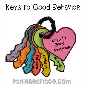 Good Behavior Keys Activity for Parents and children