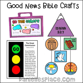 Good New and Great Commission Bible Crafts, Bible Games and Bible Lesson for Children's Ministry