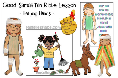 Good Samaritan - Helping Hands Bible Lesson for Children for Children's Ministry from www.daniellesplace.com