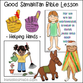 Good Samaritan - Helping Hands Bible Lesson for Children's Ministry from www.daniellesplace.com