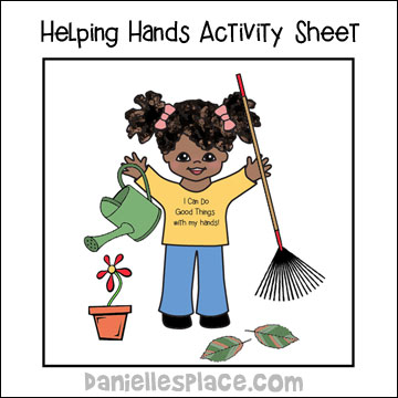 Helping Hands Activity Sheet for Good Samaritan Bible Lesson from www.daniellesplace.com