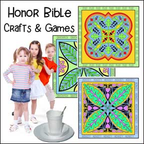 Honor Bible Crafts and Games for Children's Ministry