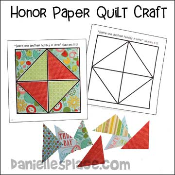 Honor Your Friends Paper Quilt Craft