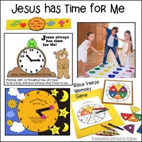 Jesus Has Time for Me Bible Crafts and Bible Games