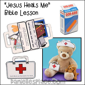 Jesus Heals Me Bible Lesson and Bible Crafts from www.daniellesplace.com