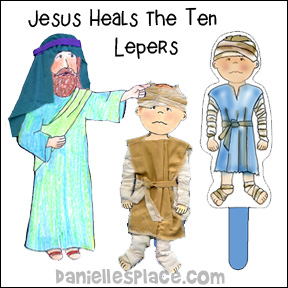 Jesus Heals the Ten Lepers Bible Crafts
