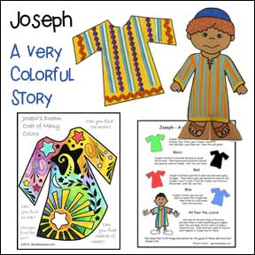 Joseph, A Very Colorful Story Bible Lesson from www.daniellesplace.com