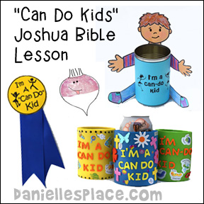 Joshua Bible Crafts for Joshua and Kaleb Spy on Canaan Bible Lesson