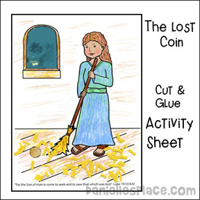 Lost Coin Activity Sheet from www.daniellesplace.com