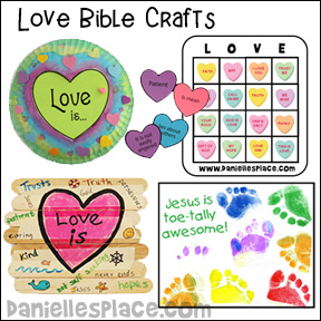 Love Bible Crafts for Sunday School and Children's Ministry
