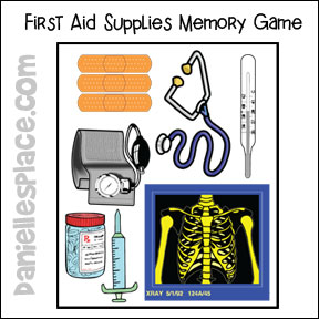 Medical Supplies Memory Game from www.daniellesplace.com