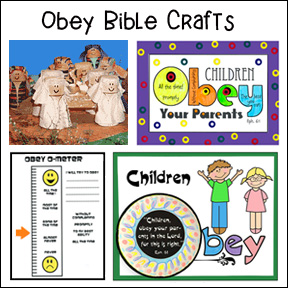Obey Bible Crafts for Children's Ministry
