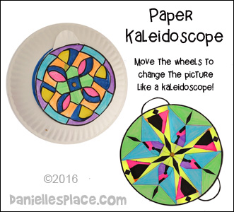 Paper Kaleidoscope - Experiment with shapes and color art activity for children from www.daniellesplace.com