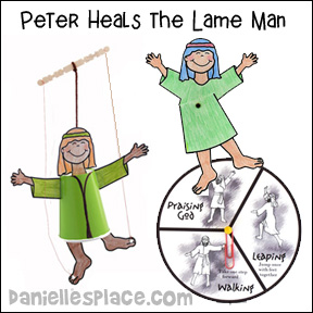 Peter Heals the Lame Man Bible Crafts