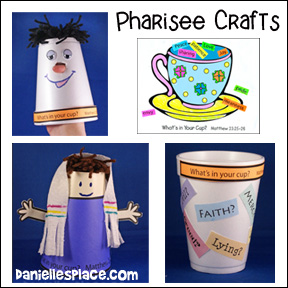 Pharisee Bible Crafts for Sunday School