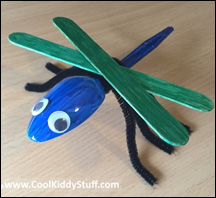 Dragonfly Plastic Spoon Craft
