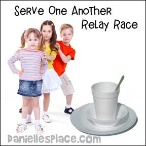 """Serve One Another"" Relay Race"