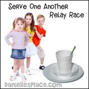 Serve One Another Relay Race