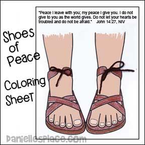 Shoes Of Peace Activity Sheet