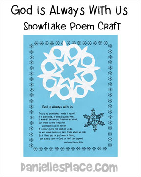 Snowflake Poem and Craft for Kids from www.daniellesplace.com