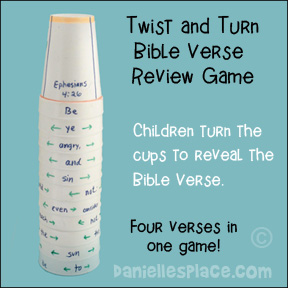 Twist and Turn Cup Bible Verse Review Game for Children's Ministry from www.daniellesplace.com