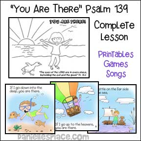 Free Bible Lessons for Sunday School - Psalm 139