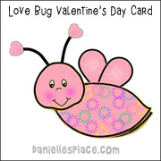 Love Bug Shape Book
