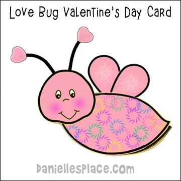 Love Bug Valentine's Day Card Craft from www.danielllesplace.com