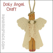 Doily Angel Craft from www.daniellesplace.com
