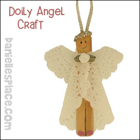 Doily Angel Christmas Craft from www.daniellesplace.com
