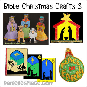 Christmas Crafts for Sunday School - Bible Christmas Crafts from www.daniellesplace.com