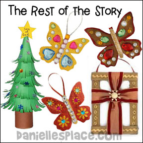 Christmas Bible Lesson - The Rest of the Story with Christms Ornaments from www.daniellesplace.com
